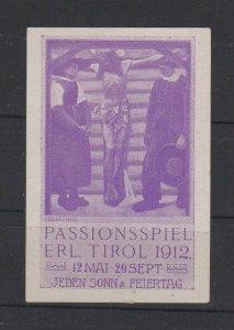 Germany Tirol Passion Play 1912 Poster Stamp MNH