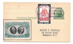 Naval Ship Cancel USS Harold J Ellison CIPEX 1947 Poster Stamps Cinderellas UX27