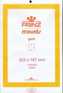 Prinz Scott Stamp Mount 223 / 187 BLACK Background Pack of 3