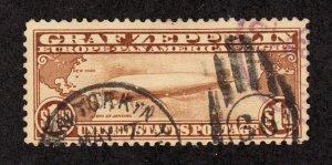 US C14 $1.30 Graf Zeppelin Used F-VF SCV $375