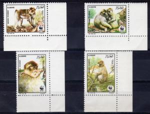 Algeria 1988 Sc#872/875 WWF Barbary Apes Set (4) Perforated MNH