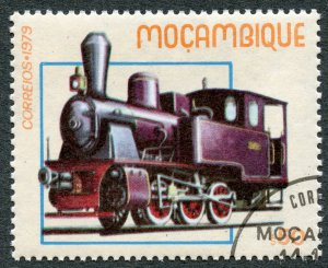 Railroads: Locomotive No. 1 (1914), 1979 Mozambique, Scott #656. Free WW S/H