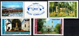French Polynesia #417, 424-6  MNH CV $8.90 (X2335)