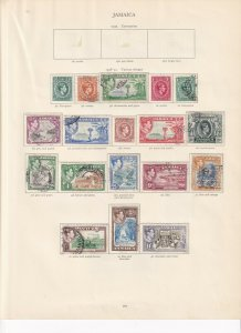 JAMAICA GEORGE 6TH CROWN ALBUM PAGES VALUES TO £1 MINT/USED