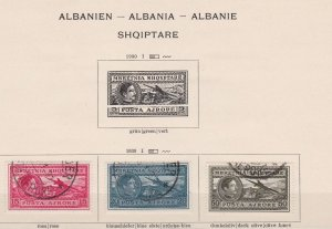 albania  1930 air used stamps ref r13345