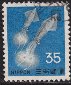 Japan 883 Hinged Used 1966 Luminescent Squid 35y