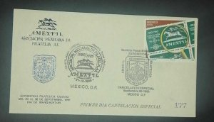 A) 1990, MEXICO, MEXICAN PHILATELY ASSOCIATION, FDC, POSTMARK OF SPECIAL CANCELL