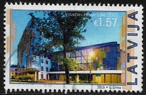 Latvia #938 Used Stamp - Cesis Concert Hall (b)