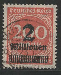 Germany Reich Scott # 269, used, variation color + flat press print, exp h/s