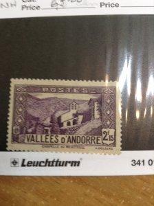 Andorra (French)  #  57  MNH
