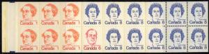 Canada #USC75b 1975 $1. Booklet Orange on Queens Hair - VF-NH