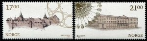 HERRICKSTAMP NEW ISSUES NORWAY Sc.# 1820-21 Europa 2017 Castles