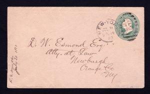 U.S. STATIONARY SCOTT #U167 NEW YORK DUPLEX FANCY CANCEL 1883