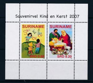 [SU1492] Suriname Surinam 2007 Christmas Christ Children Souvenir Sheet MNH