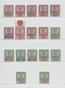 Malaya Johore - 1904 - SG 61-77 - MNH