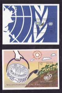 Palau-Sc#375-6- id2-Unused NH sheets-United Nations-1995-