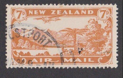 NEW ZEALAND 1931 7d airmail fine used - ACS cat NZ$30.......................M431