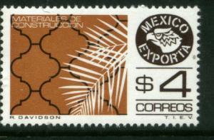 MEXICO Exporta 1119 $4P Construction Mats Fluor Paper 6 MNH