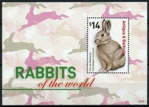 Antigua & Barbuda Domestic Animals Stamps 2021 MNH Rabbits of World Pets 1v S/S