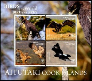 HERRICKSTAMP NEW ISSUES AITUTAKI Birds of Prey 2019 S/S