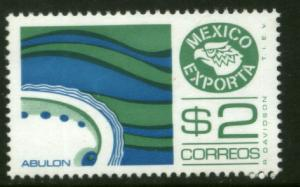 MEXICO Exporta 1117a, $2P Abalone, Fluor Paper 7 MNH