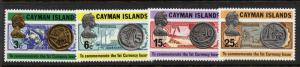 Cayman Islands 306-9 MNH Coins & Banknotes on Stamps, Bird, Ships, Fish