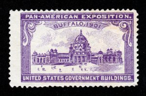 POSTER STAMP 1901 PAN AMERICAN EXPOSITION U.S. GOVERNMENT BUILDING MNG (THINS)