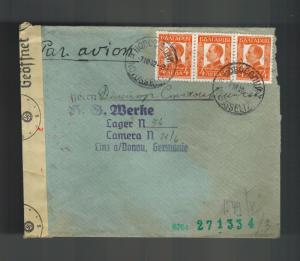 1942 Bulgaria to Germany Donau Concentration Camp Cover Karl Zeiss Werke KZ