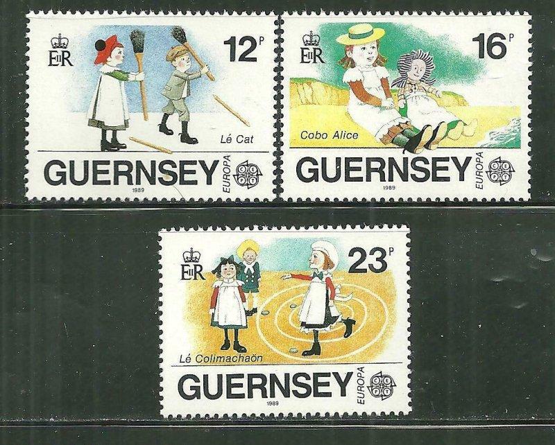 Guernsey MNH 401-3 Europa Children's Games