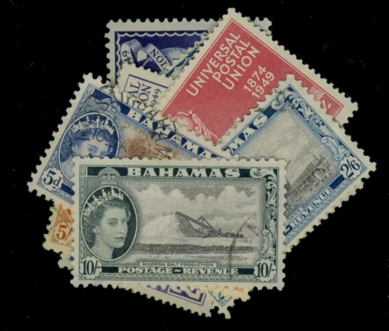 Bahamas #150-3 164 170-2 USed F-VF CAt$20.70