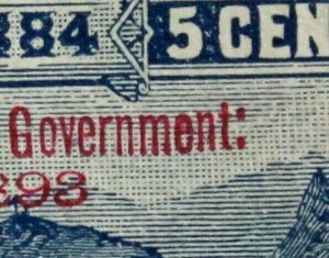 HAWAII #U12 USED UNLISTED SMALL V Incomplete S and Over Inked e