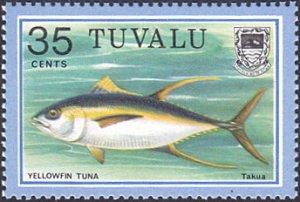 Tuvalu # 107 mnh ~ 35¢ Fish
