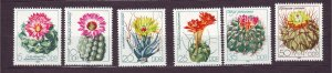 J23263 JL stamps 1983 DDR germany set mnh #2349-54 cacti flowers