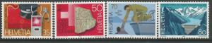 SWITZERLAND 751-754, MNH, C/SET OF 4 STAMPS, 1985 TYPE