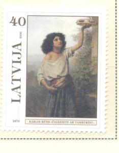 Latvia Sc 652 2006 Painting by Huns stamp mint NH