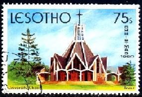 University Chapel, Roma, Lesotho stamp SC#317 MNH