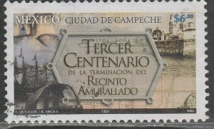MEXICO 2379, WALLED DISTRICT OF CAMPECHE, 300th ANNIVERSARY. USED. VF. (1193)