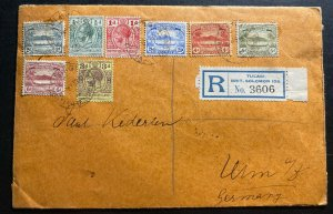 1913 Tulagi British Solomon Islands Registered Cover To Ulm Germany Sg#11