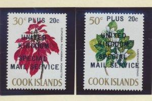 Cook Islands Stamps Scott #214-5, Mint Never Hinged, Postal Strike Overprints