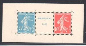 FRANCE SHEET #241 STRASBOURG 1927 Mint NH XF Pair