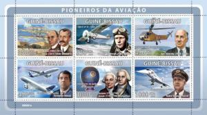 GUINEA BISSAU 2008 SHEET PIONEERS OF AVIATION WRIGHT LINDBERGH CONCORDE TURCAT