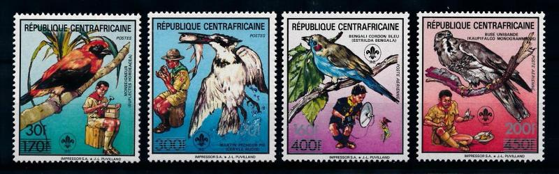 [77219] Central African Rep. 1988 Scouting Birds Vögel Oiseaux With OVP MNH