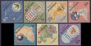 1965 Burundi 193-199 Outer Space / Satellite