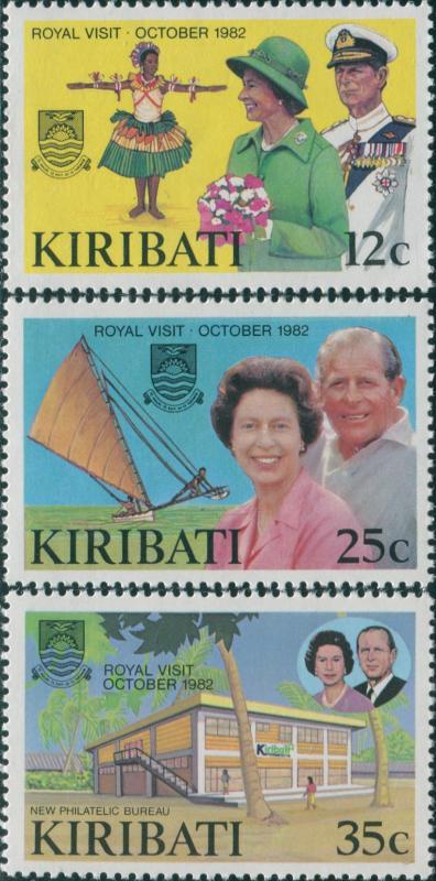 Kiribati 1982 SG193-195 Royal Visit set MNH