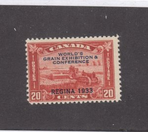 CANADA # 203 FVF-MNH  20cts  REGINA 1933 /HARVESTING WHEAT O/PRINT CAT VAL $100