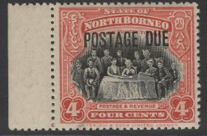 NORTH BORNEO SGD54 1918 4c BLACK & SCARLET MNH
