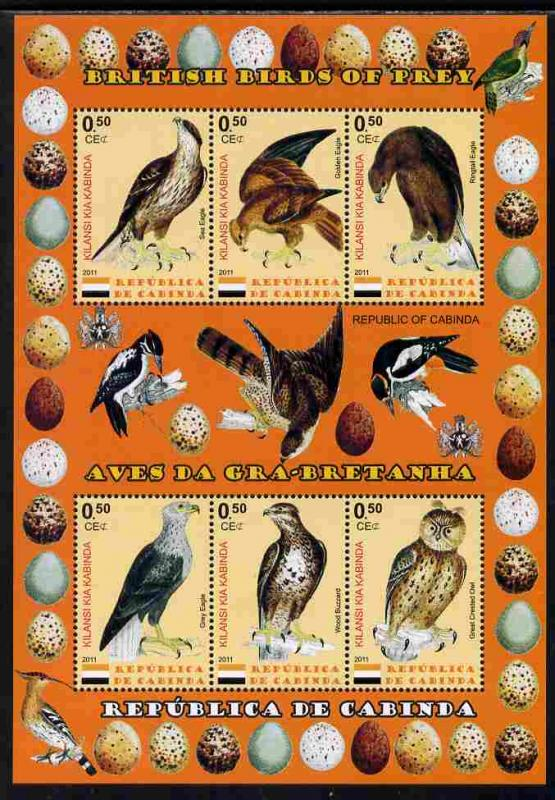 CABINDA SHEET BIRDS OF PREY