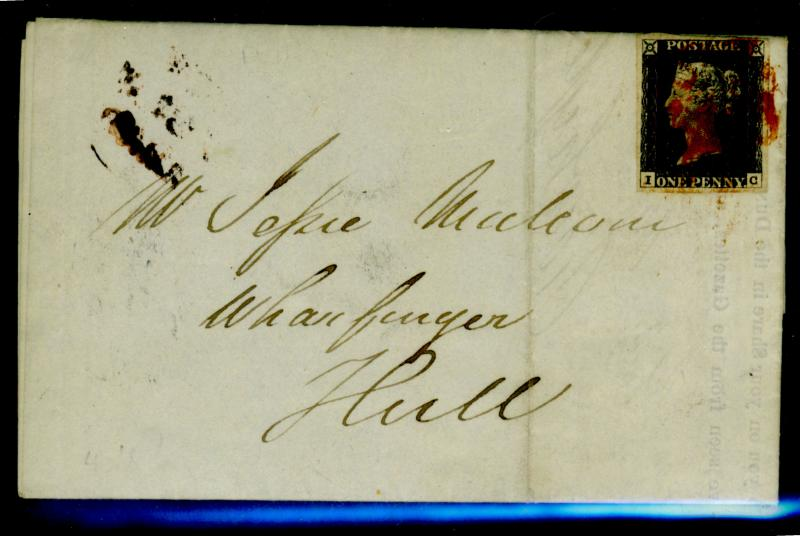 Great Britain #1 Used On cover Cat$920