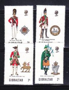 Gibraltar 234-237 Set MNH Military Uniforms