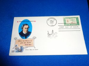 FLEUGEL MULTI COLORED CACHET FDC:  US SCOTT#  1144